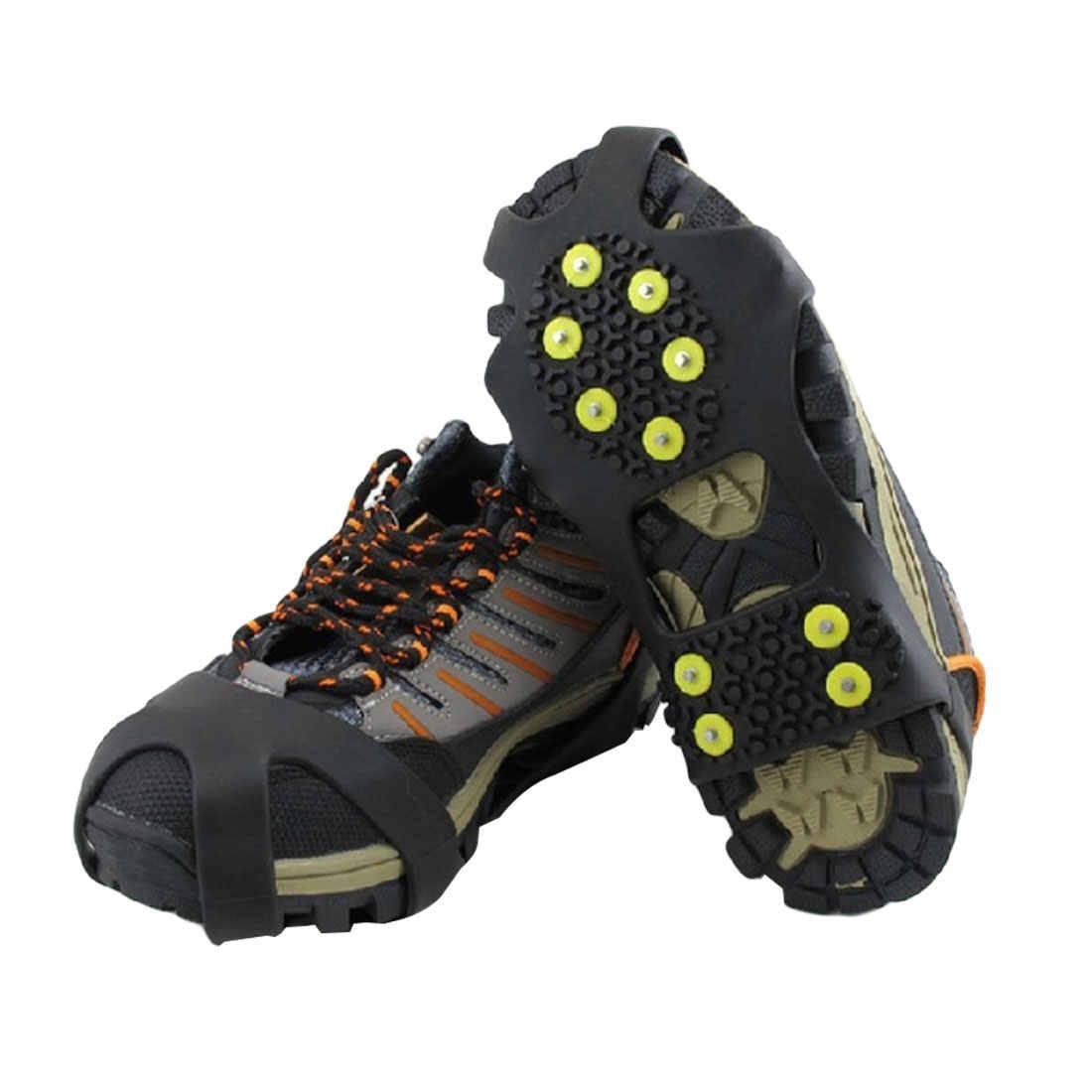 3 حجم 10 ترصيع المضادة للانزلاق الجليد الشتاء تسلق لا زلة أحذية ثلج المسامير المسامير المسامير على الأحذية يغطي الأشرطة