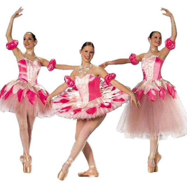 9a527922b Rosa bailarina flor hoja Hada Vestido largo de Ballet, adulto melocotón  árbol hojas pétalo Ballet faldas envío gratis Dropshipping