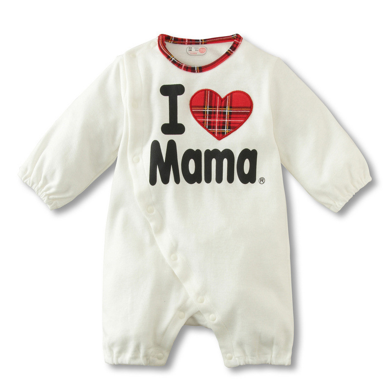 Baby Rompers Baby Clothes Set I Love Mum Mama Papa Newborn Kids Rompers Cotton Baby Overalls Long Sleeve Baby Boy Girl Jumpsuits baby rompers long sleeve baby girl clothes kids jumpsuits children autumn clothing set newborn baby clothes cotton baby rompers