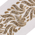 Кружевная лента с золотыми блестками  3 ярда  отделка шнурком  T2553