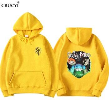 2019 Sally Face Sweatshirt Hoodies Men/Women Hoody Winter Warm Cotton Hoodie Boy/Girls Cap Polluvers Game Sally Face Eyes CBUCYI sally clarkson girls club