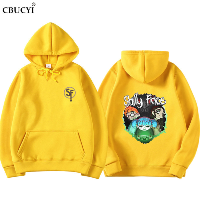 2019 Sally Face Sweatshirt Hoodies Men/Women Hoody Winter Warm Cotton Hoodie Boy/Girls Cap Polluvers Game Sally Face Eyes CBUCYI