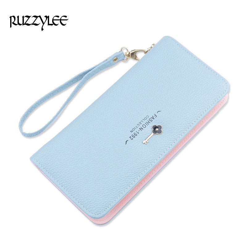 New Brand Female Purses Luxury Women Wallets Long Zipper Ladies Purse Leather Clutch Woman Wallet Card Holder Feminina Carteira double zipper men clutch bags high quality pu leather wallet man new brand wallets male long wallets purses carteira masculina
