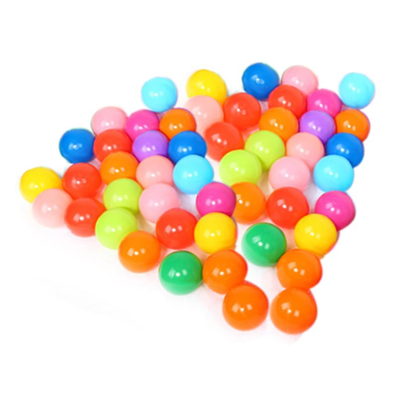 50pcs Colorful Ball Pits Soft Plastic Ocean Balls Toy Fun Outdoor/Indoor Kids Swim Pits Toy for Pool Tent