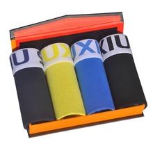 DEWVKV 4Pcs/lot Male Panties Cotton Boxers Comfortable Breathable Mens Underwear Trunk Brand Shorts Man Boxer