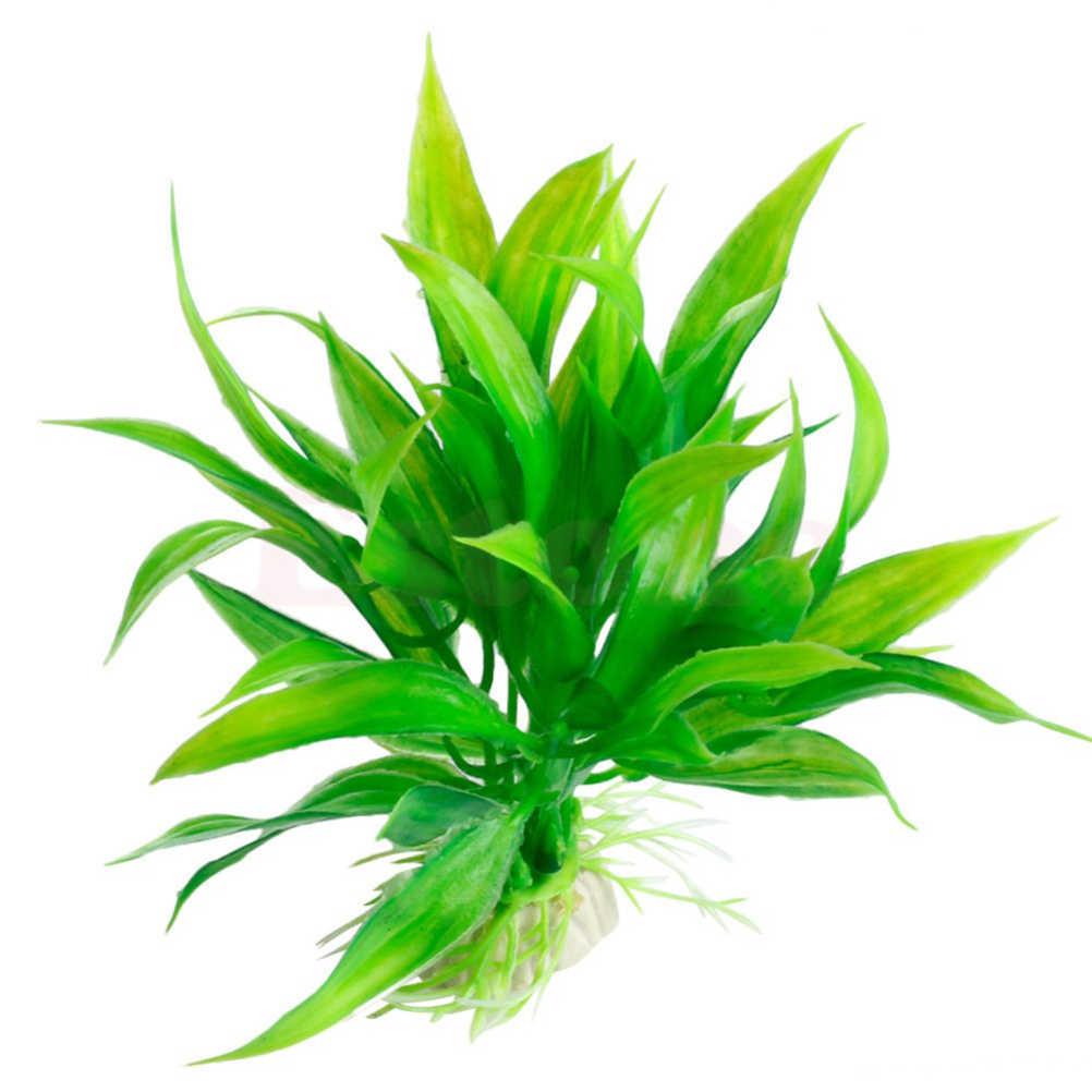 Di plastica 15 centimetri Artificiale erba Verde Acqua Impianto di Erba per Acquario