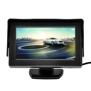 Image 3 - 7 luces infrarrojas sistema de pantalla de marcha atrás automático 4,3 pulgadas Monitor LCD Auto Pantalla de coche IP67 cámara de aparcamiento con Monitor