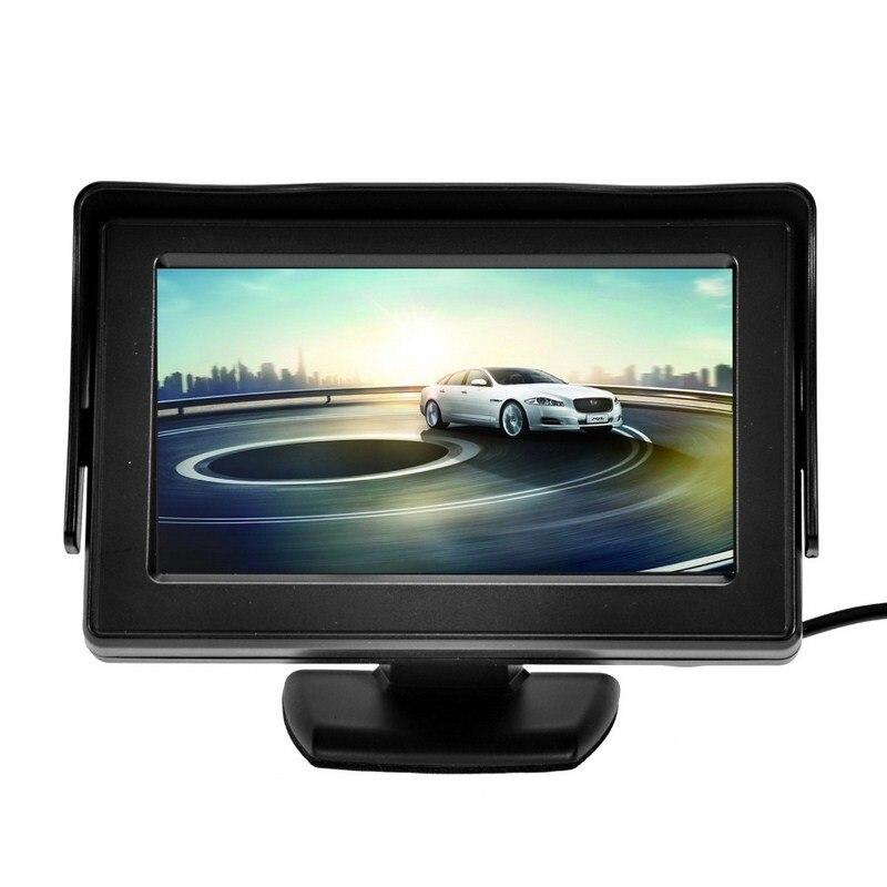 Image 3 - 7 Инфракрасная подсветка Автоматическое реверсирование Дисплей Системы 4,3 дюймов ЖК дисплей монитор Авто Дисплей IP67 парковка Камера с монитором-in Мониторы для авто from Автомобили и мотоциклы