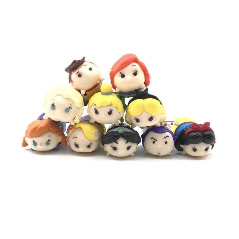 10pcs set Kawaii Tiny Tsum Tsum Mini PVC Avengers Princess Figure Toys