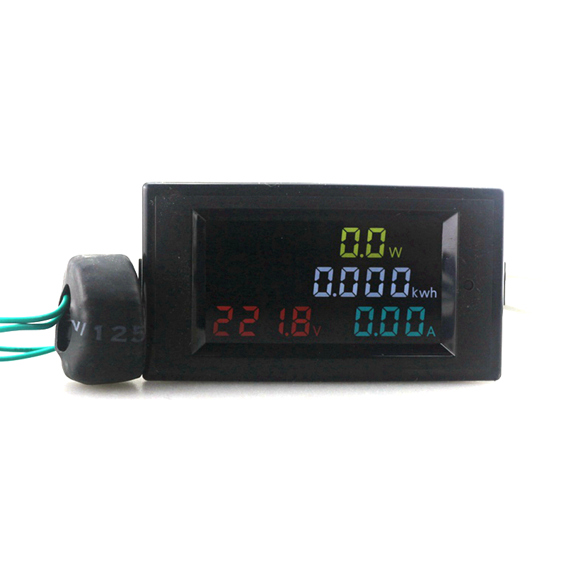 Digital Voltmeter Ammeter Amp Watt Power Energy Combo Meter Current Monitor AC 80-300V 200-450V 100A HD Color LED CT Coil kingkong force 80 power combo