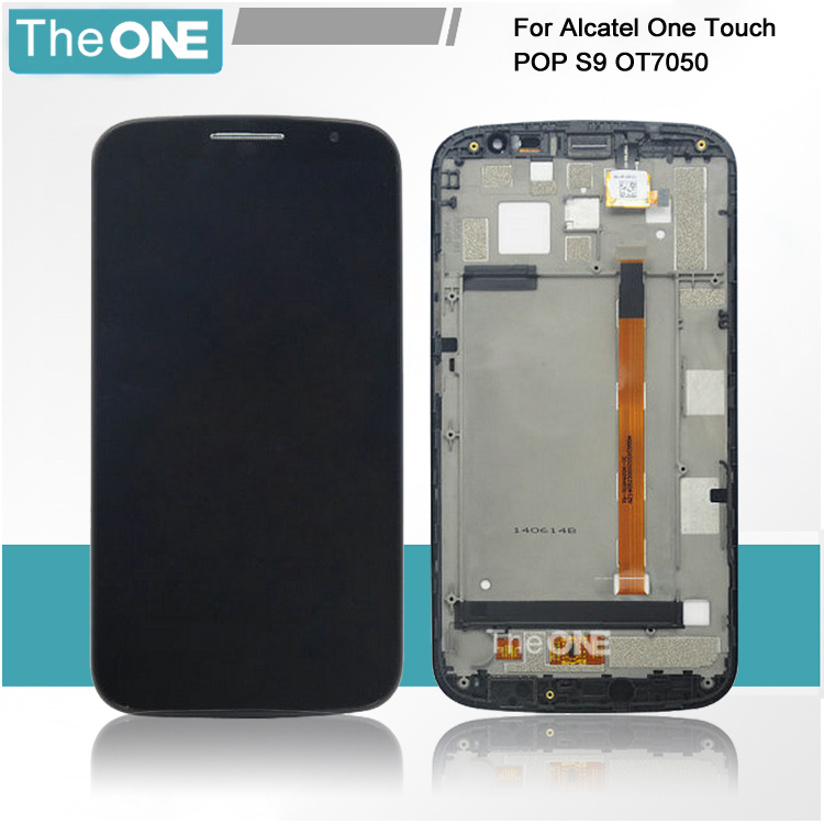 ФОТО For Alcatel One Touch Pop S9 OT7050Y OT7050 7050 Mega LTE A995G A995L LCD Display Touch Screen Digitizer assembly with Frame