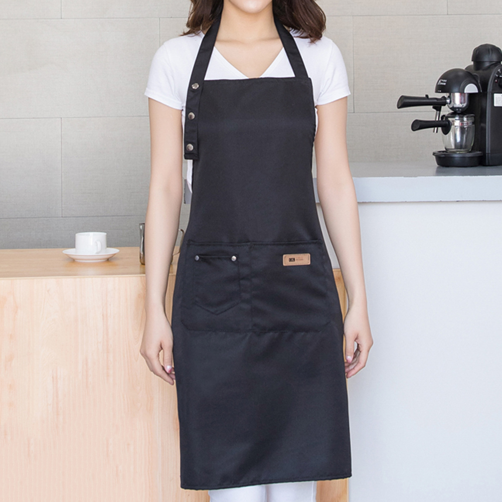 Cotton Denim Canvas Pockets Baking Chefs Kitchen Cooking Apron Baking Chefs Onesies Cover Clothing Kitchen Mom Cooking Coat O12