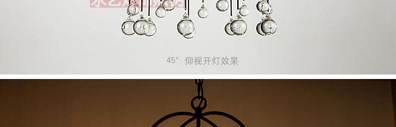 Modern iron cage pendant light hallway restaurant study balcony bedroom  living room fashion Rural round K9 crystal lamps ZA - us469 f84087f4ad