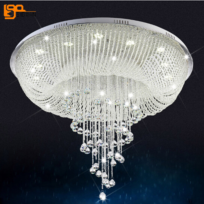 New style luxury living room lights Dia80*H80cm large modern crystal chandelier the new listing luxury living room