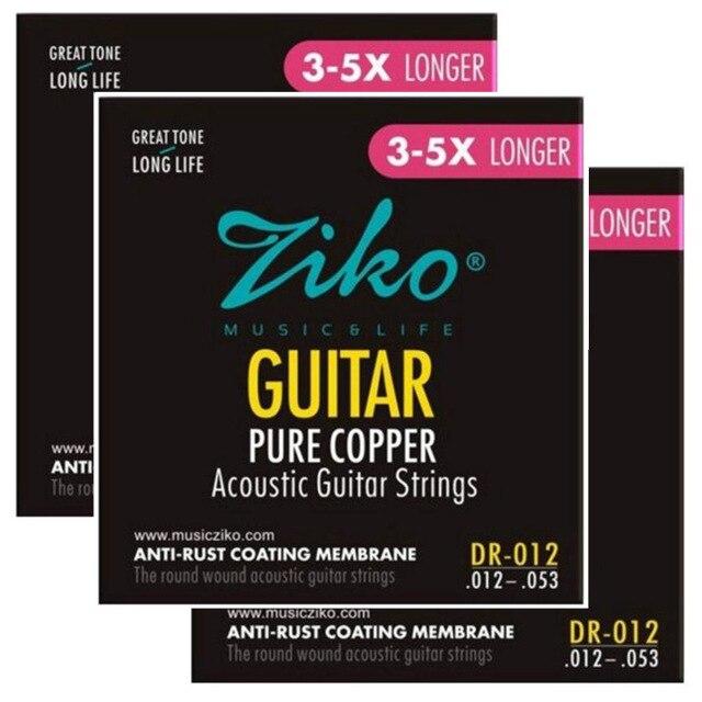 ziko dr 012 012 053 acoustic guitar strings pure copper strings guitar parts wholesale musical. Black Bedroom Furniture Sets. Home Design Ideas