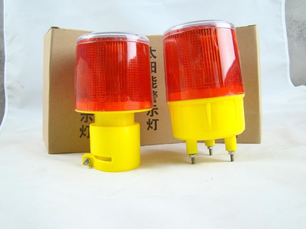 2016 Solar Powered Traffic Warning Light,LED Solar Safety Signal Beacon Alarm Lamp 6 LED traffic signal light module 200mm diameter 8 inch blue road safety light dc 12 v cheap led cluster