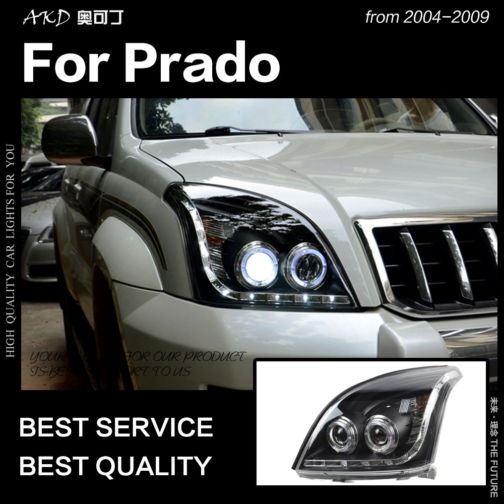 AKD voiture style pour Toyota Prado phare 2004-2009 phare LED DRL Hid phare ange oeil Bi xénon faisceau accessoires