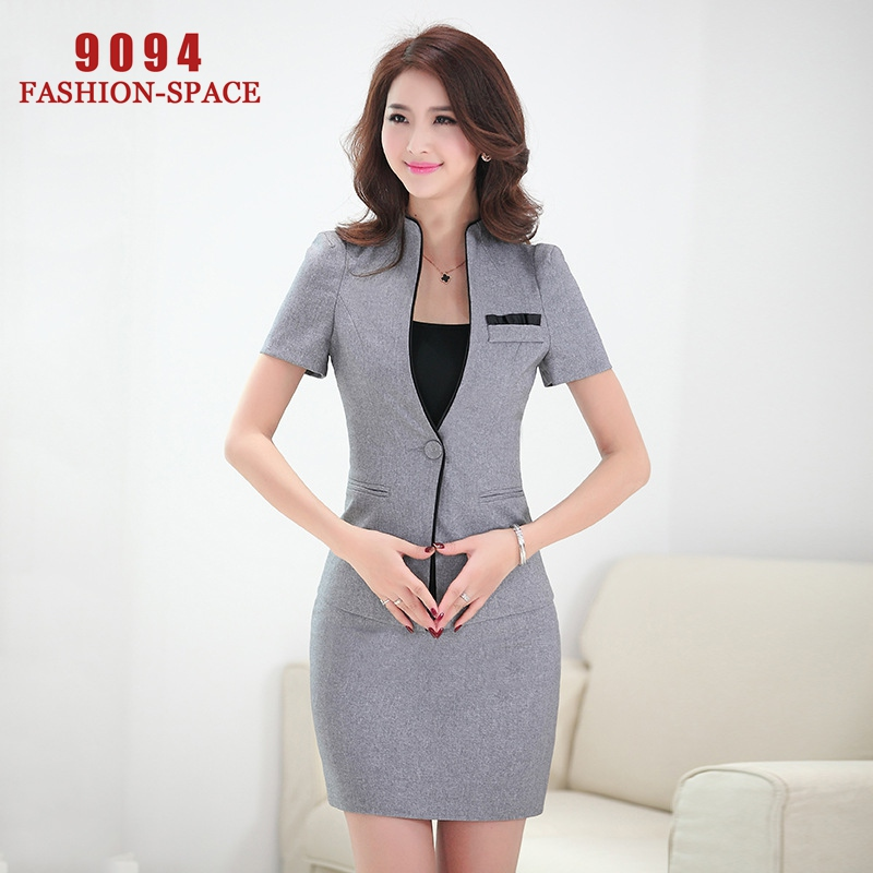 Formal women suits sutia office uniform design vestido for Office uniform design 2015