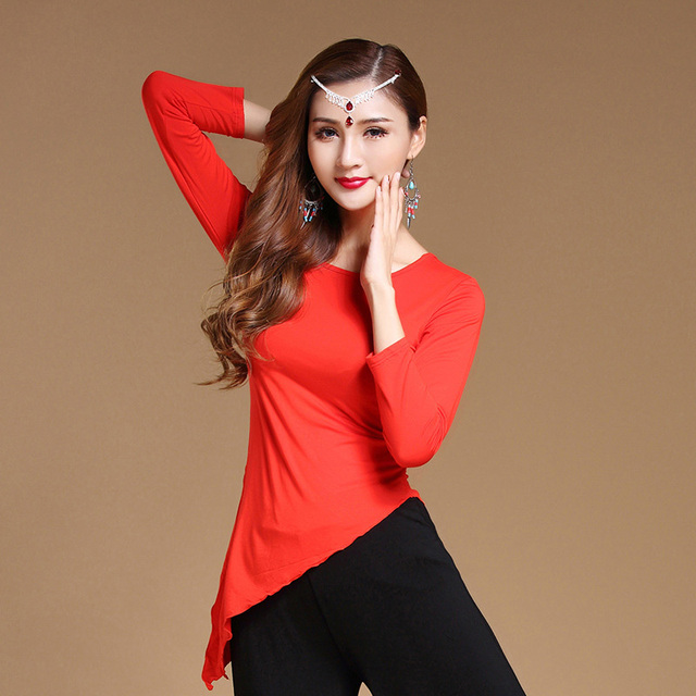 Adulto modal oriental dança do ventre colheita topos camisa trajes para venda roupas de dança do leste feminino bellydance dancer vestuário wear