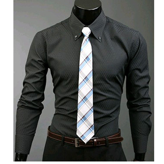 men's button down shirt Long sleeve Formal Camisa tactical ...