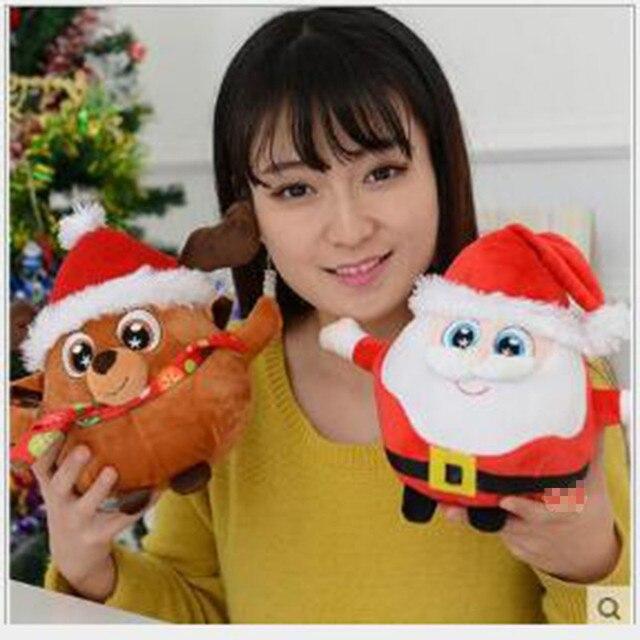 1 шт. 50 см 2016 Новый Ребенок плюшевые Игрушки Санта-Клаус Куклы лось Penguin Books Музыкальные Заполненный Рождество Подарок Бесплатно Двери x322