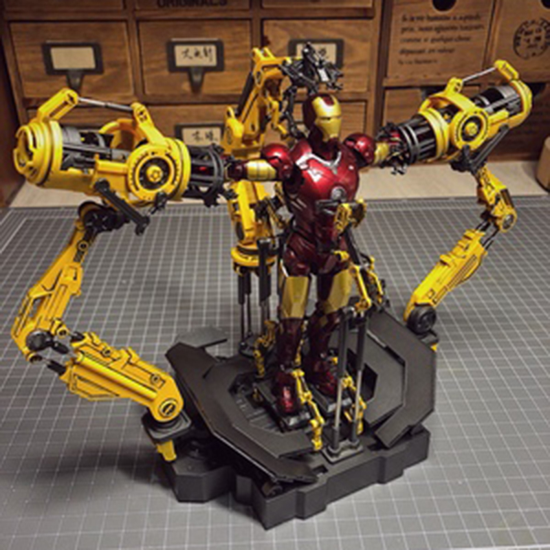 FOR 6inches Iron Man 1/12 Scale Suit-up Gantry Iron Man Diecast Alloy Armour Dismantling Station Toys Without The Iron Man