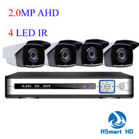 4CH DVR HDMI CCTV Video Surveillance 2 0MP 1080P 4 LED IR Outdoor Waterproof Home Security