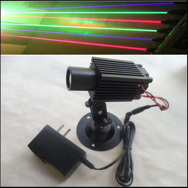 ФОТО 50mW 532nm green laser module with power adapter and bracket, big green laser beam, plug and use
