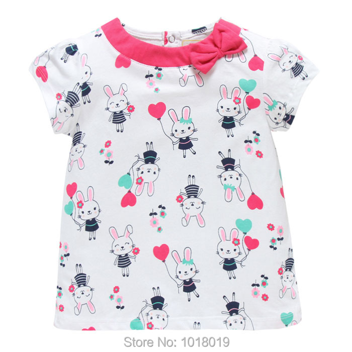 New 2018 Brand Quality 100% Cotton Baby Girls t shirt Toddler Kids Clothing Children Clothes Short Sleeve Shirt Baby Girl Blouse