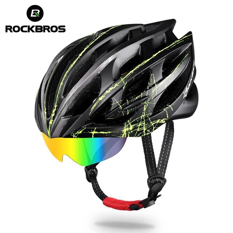 ROCKBROS велосипедный шлем 3 линзы Ультралайт MTB велосипедный велосипед мотоциклетный шлем Мужские Женские Интегральные формованные EPS велосип...