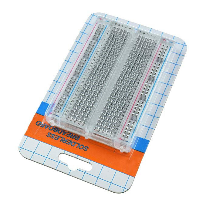 Electronic Components & Supplies Mini Prototype Breadboard Clear Crystal 400 Tie Point Solderless Modular Board