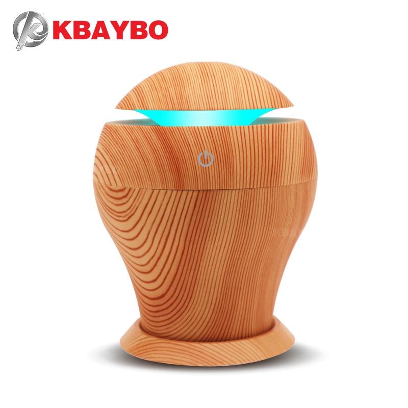 USB 250ml de Óleo Essencial Difusor de Aroma de Madeira Da Lâmpada Aromaterapia Umidificador de Ar Elétrica Aroma Difusor Névoa Maker para Casa