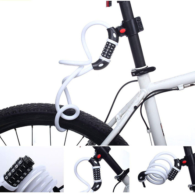 5 Digit Combination Code Steel Cable Bike Security Lock