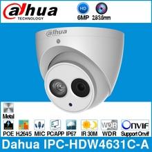 Dahua IPC-HDW4631C-A 6MP HD POE, сетевые мини купольные ip-камеры металлический корпус Встроенный микрофон CCTV 30 м Onvif IR Обновление от IPC-HDW4433C-A