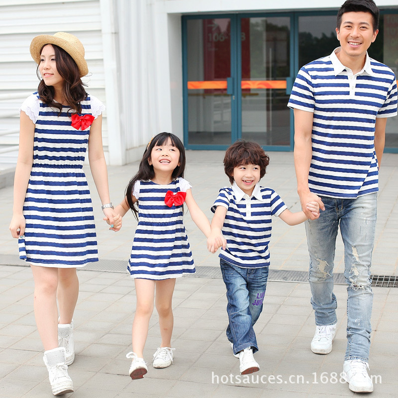 Buy 2017 summer family matching clothes mother daughter ...