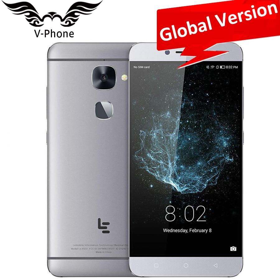 "Global Version Letv LeEco Le X522 MSM8976 Octa Core 3GB RAM 32GB ROM Android 6.0 5.5"" 16.0MP 3000mAh Fingerprint Mobile Phone"