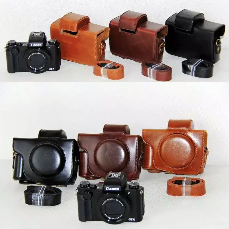 PU Leather Case Camera Video Bag Cover For Canon PowerShot G5X Camera