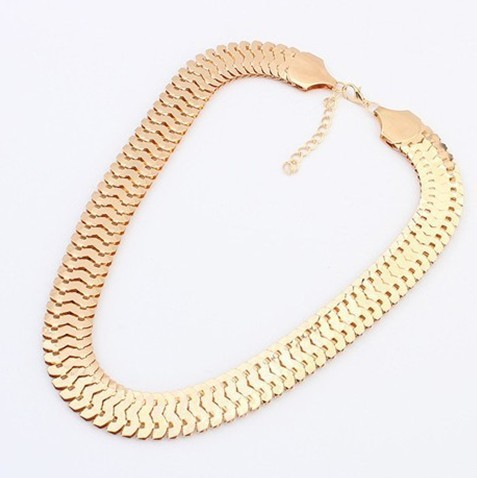 Gold Chunky Chain Necklace...