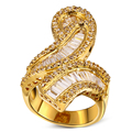 18K Gold & Platinum Plated Prong setting 109pcs AAA Cubic Zirconia Rings for Women Wedding Rings Fashion Fine Jewelry  Full size