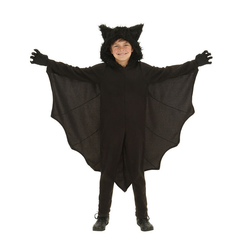 Halloween Costumes Children/Kids Super Hero Batman Cosplay Costumes Boy/Girls Jumpsuits+Gloves Sets Stage Clothes