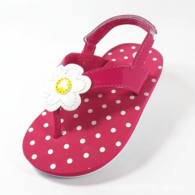 Clearance Sale Children Shoes Girls Sandals Fashion Flower Polka Dot Toddler  Baby Flip-Flop EVA 69e2d1c3e429