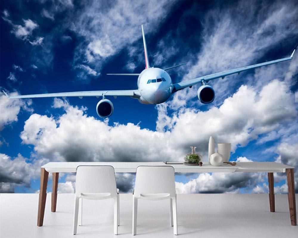 Papel De Pared De Pasajeros De Avión Aviones Cielo Nubes Papel Sofá De La Sala De Pared De Tv Dormitorio Mural Papel De Pared Decoración Para El Hogar Papeles Pintados Aliexpress