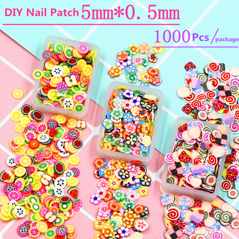 <font><b>1000</b></font> Pcs of Manicure Adornment <font><b>DIY</b></font> Ornament Nail Patch Nails Decorations New Arrive image