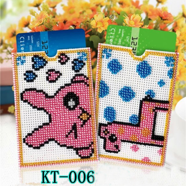 KT DIY Craft Stich Bead Cross Stitch Card Sleeve I Love You Stamped Needlework Embroidery Crafts Printed Cross-Stitching Kit