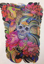 ARRIVAL 21 X 15 CM Colorful Flower And Feather Temporary Tattoo Stickers Temporary Body Art Waterproof#167