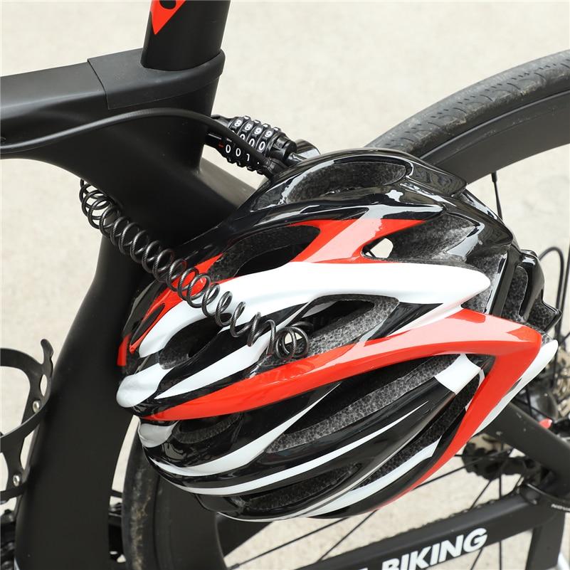 Купить с кэшбэком WEST BIKING MINI Anti-theft Helmet Lock 4 Digit Password Bicycle Lock for Scooter Motorcycles Cycling  Portable Bike Cable Lock