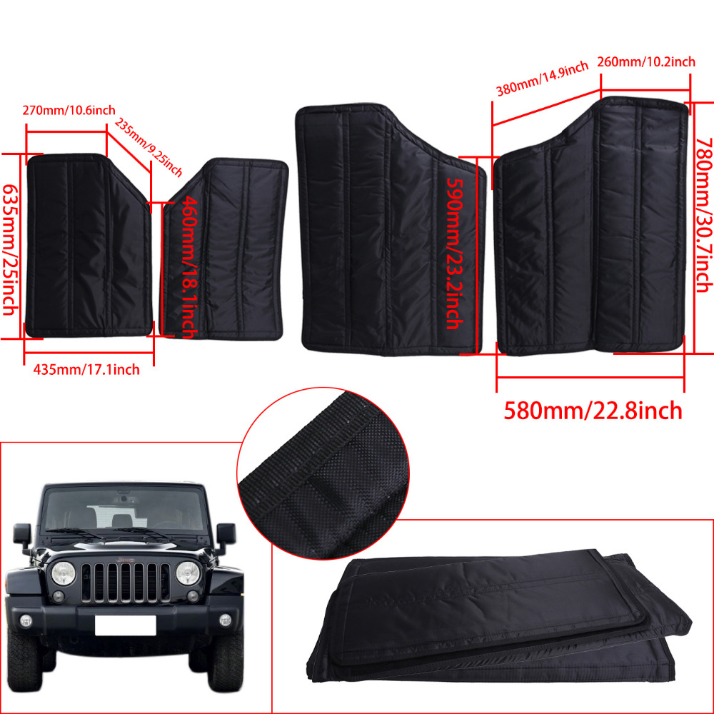 1Set For Jeep Interior Hardtop Sound Absorber Deadener Headliner Insulation Wrangler JK JKU Sahara Sport Rubicon Willys #CE021 jeep sport s vs rubicon