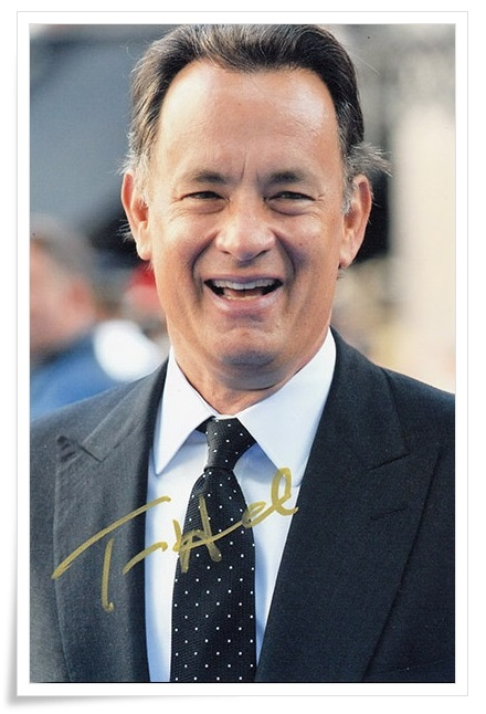 Tom Hanks  autographed signed photo 4*6 inches authentic freeshipping  01.2017 60 hanks stallion violin horse hair 7 grams each hank 32 inches in length