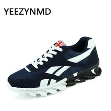 Men Casual Shoes Lace-up Red Blue Spring Autumn Mens comfortable 2017 Breathable Footwear