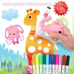 12-24 w sprayu kolor marker do malowania długopis zestaw do rysowania akwarelowy długopis dla dzieci bezpieczne nietoksyczne mycie wodą Graffiti DIY pisaki